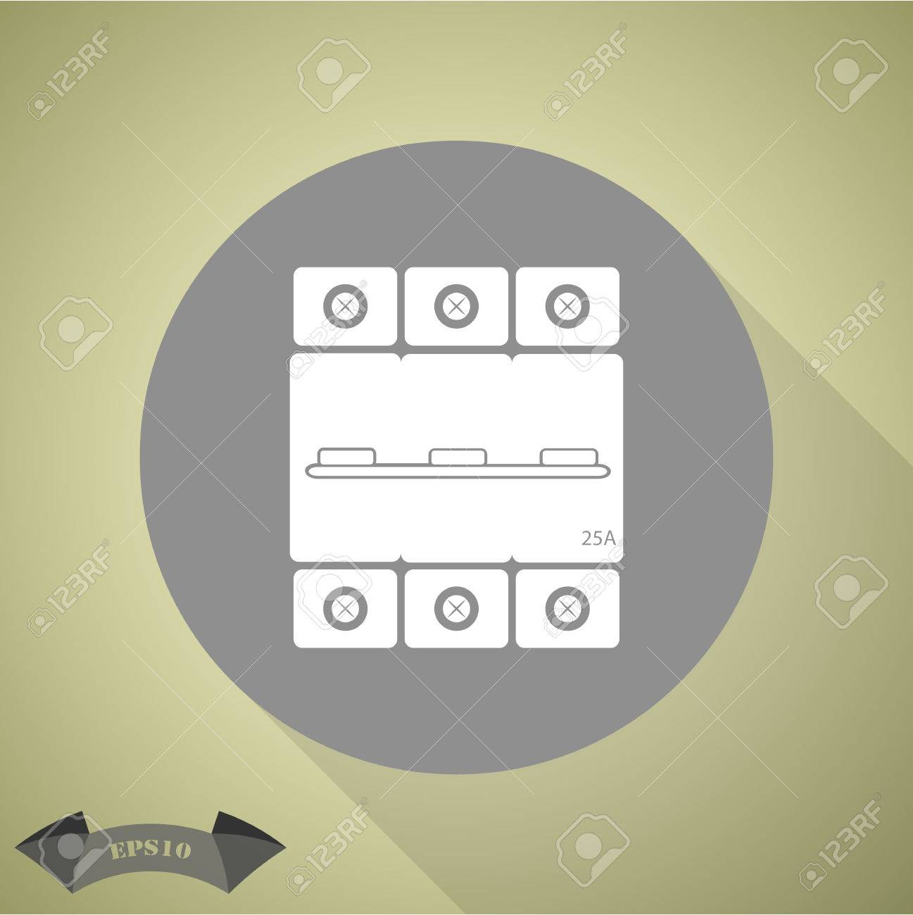 Three Phase Machine 25 Amps Icon Royalty Free Cliparts Vectors And