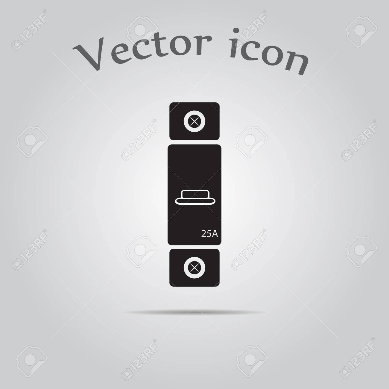 One Phase Machine 25 Amps Icon Royalty Free Cliparts Vectors And