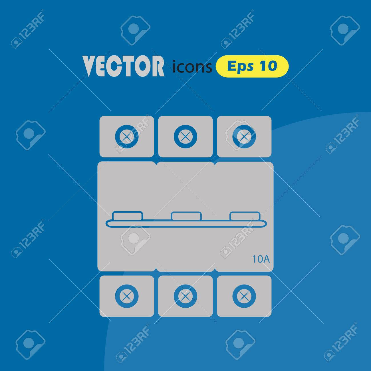 Three Phase Machine 10 Amps Icon Royalty Free Cliparts Vectors And