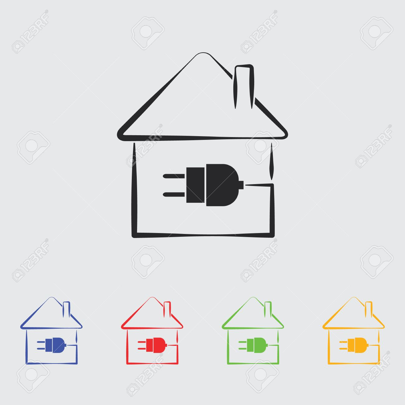 Electric House Plug Icon. Royalty Free Cliparts, Vectors, And Stock ...