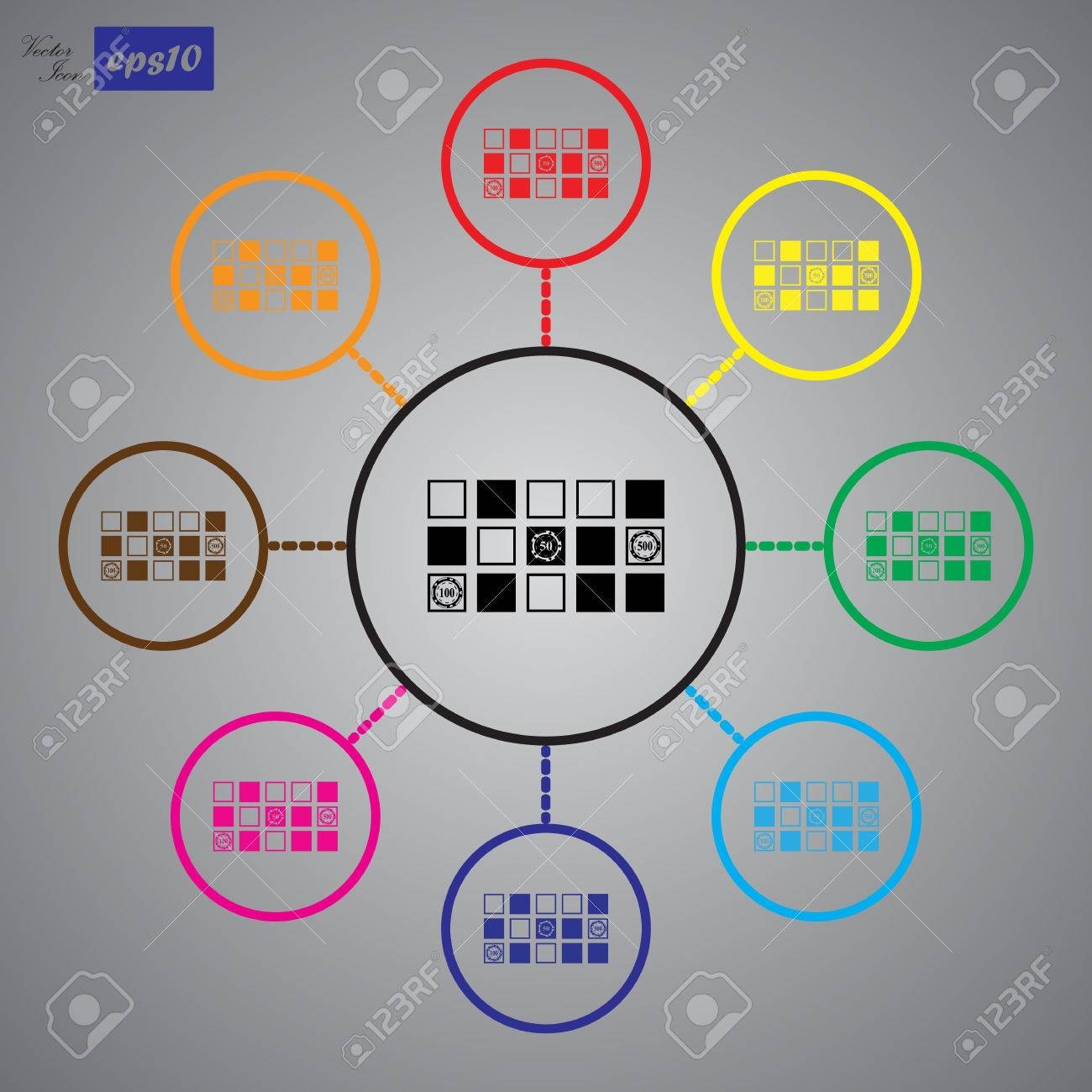 Simple table free other icons - Vector Vector Horizontal Black Simple Icon Of A Roulette Table