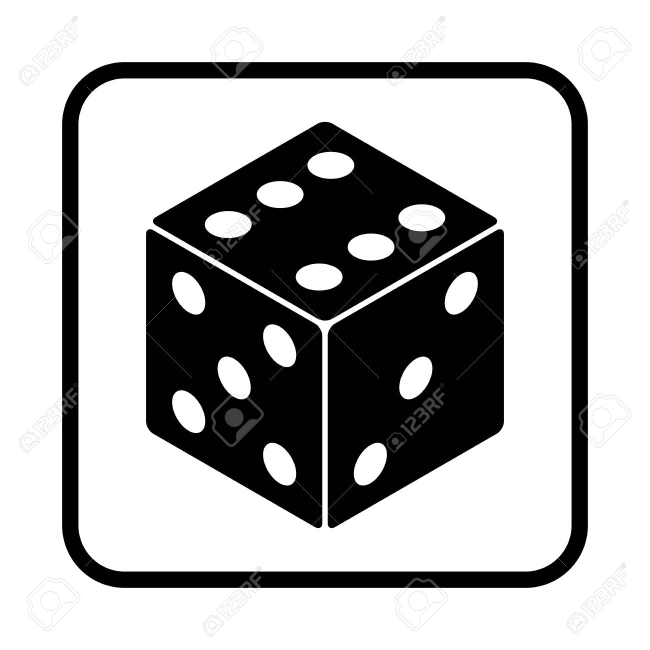 dice vector icon for web and mobile royalty free cliparts vectors rh 123rf com dice vector free download dice vector free download