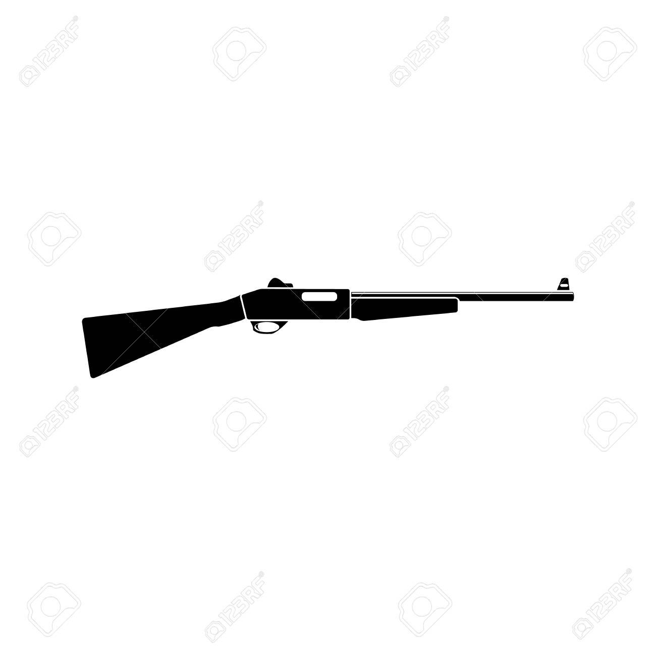 Vintage Gewehr Vektor Isoliert Auf Weißem Hintergrund Schwarz