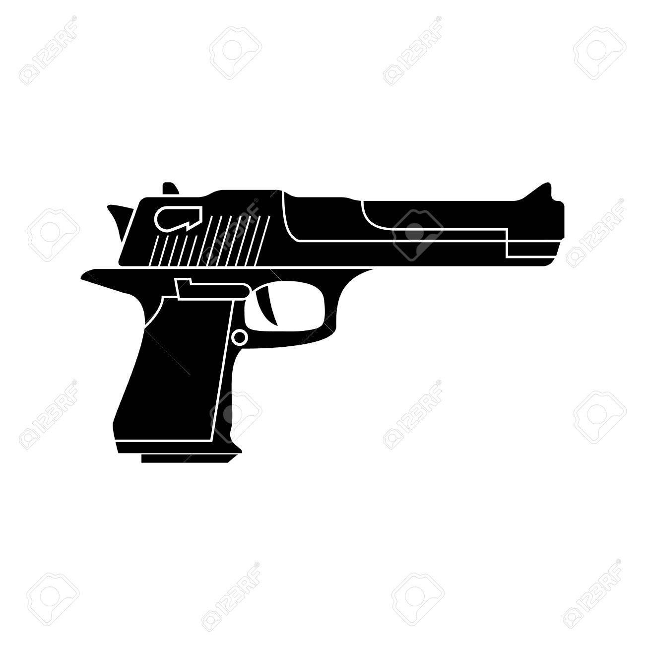 powerful pistol gun handgun vector black simple icon flat royalty free cliparts vectors and stock illustration image 59947276 powerful pistol gun handgun vector black simple icon flat