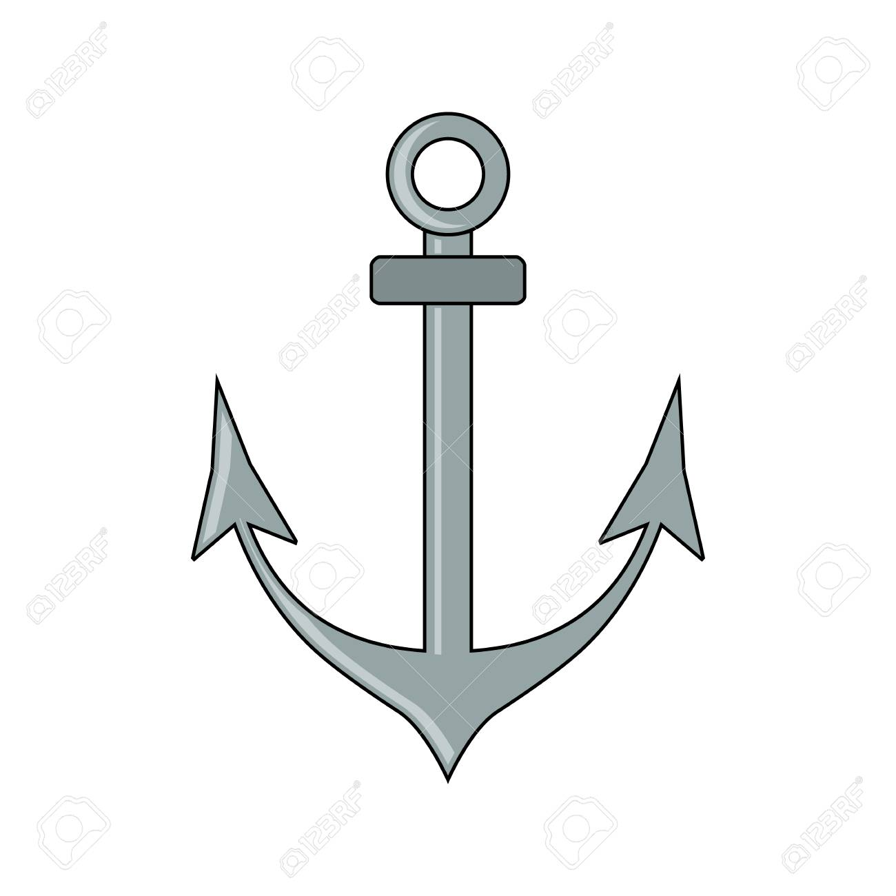 Anchor icon flat style cartoon style military symbol for web anchor icon flat style cartoon style military symbol for web and mobile biocorpaavc Choice Image