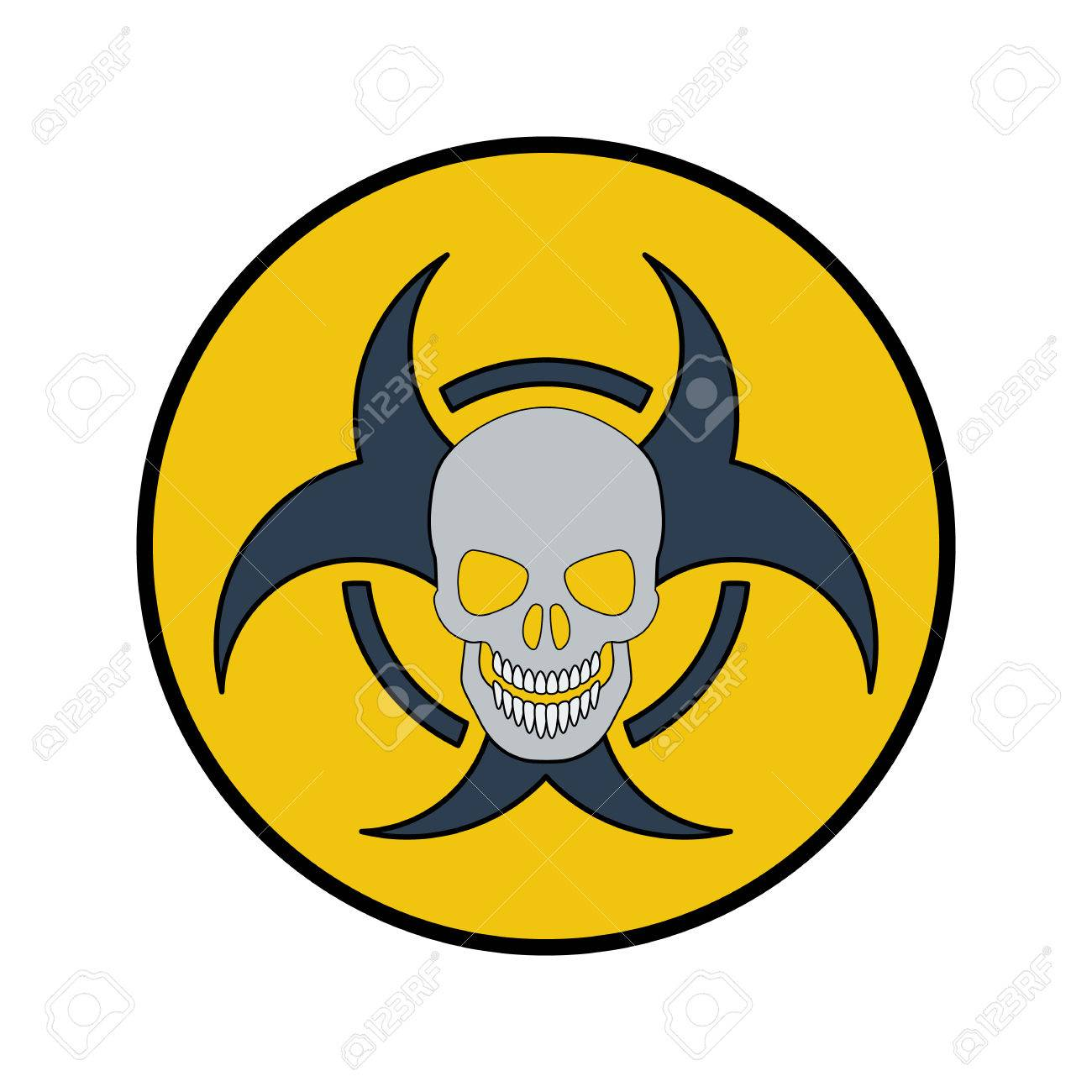The Radiation Icon Flat Style Cartoon Style Military Symbol