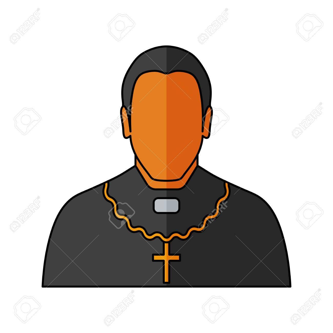 orthodox priest vector illustration religion icon silhouette rh 123rf com