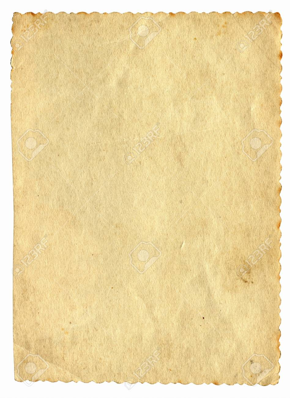 old paper with space for text isolated on the white Stock Photo - 9872750