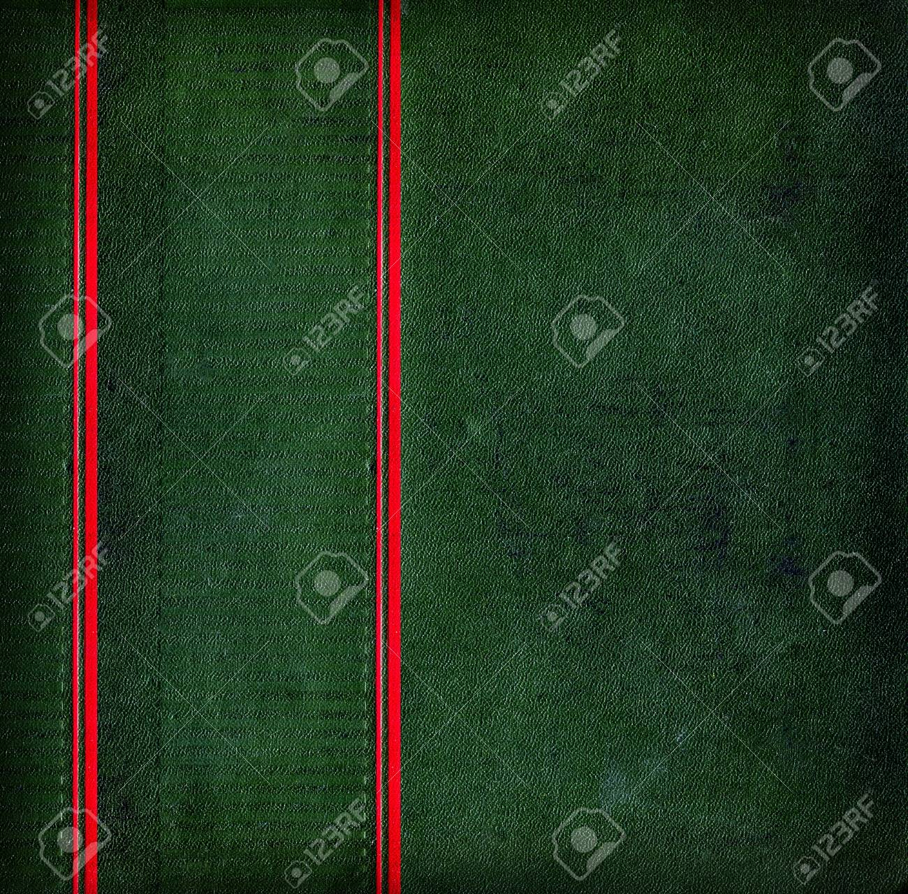 Vintage Green Texture with two red vertical strips Stock Photo - 21666118