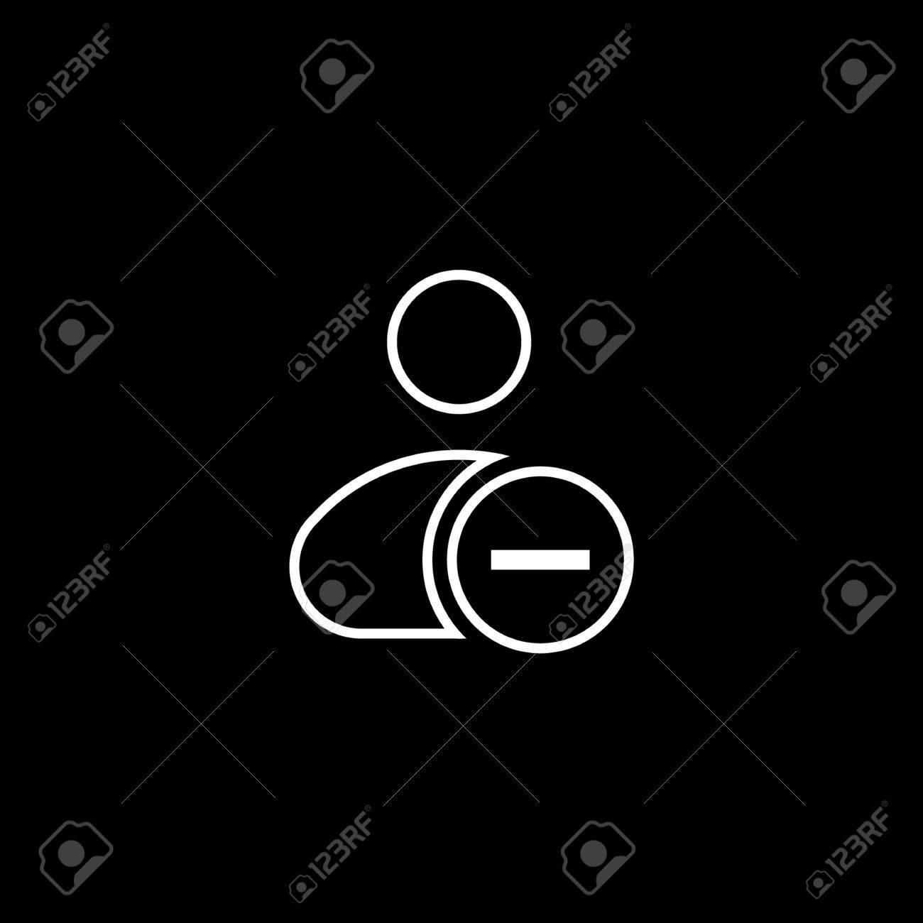 Ilustración De Eliminar Icono De Acción Del Usuario. Botón De Menú ...