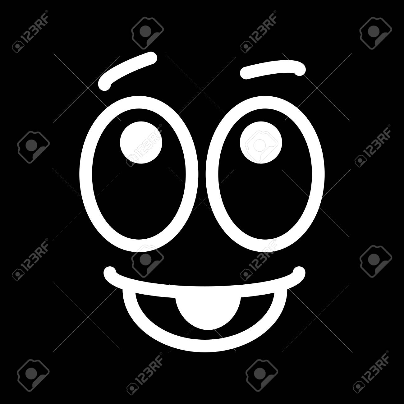 Satisfied Glad Smiley Face Emoticon Line Art Icon For Apps And