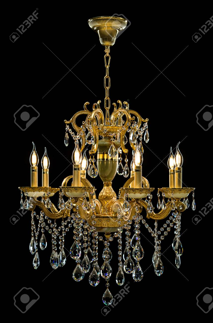 Contemporary gold chandelier isolated on black background crystal contemporary gold chandelier isolated on black background crystal chandelier foto de archivo 78366833 aloadofball Choice Image
