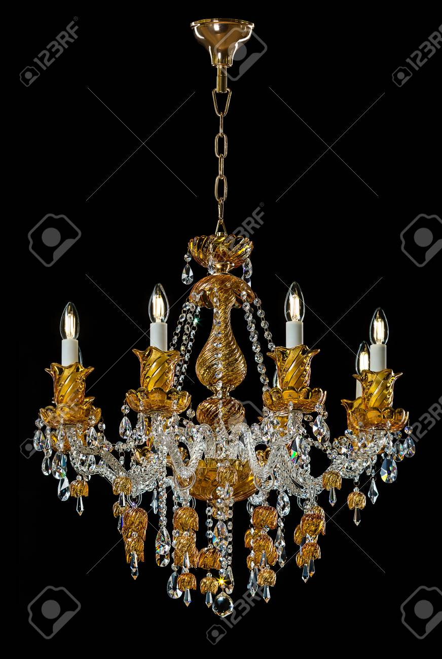 Contemporary gold chandelier isolated on black background crystal contemporary gold chandelier isolated on black background crystal chandelier foto de archivo 78366867 aloadofball Choice Image