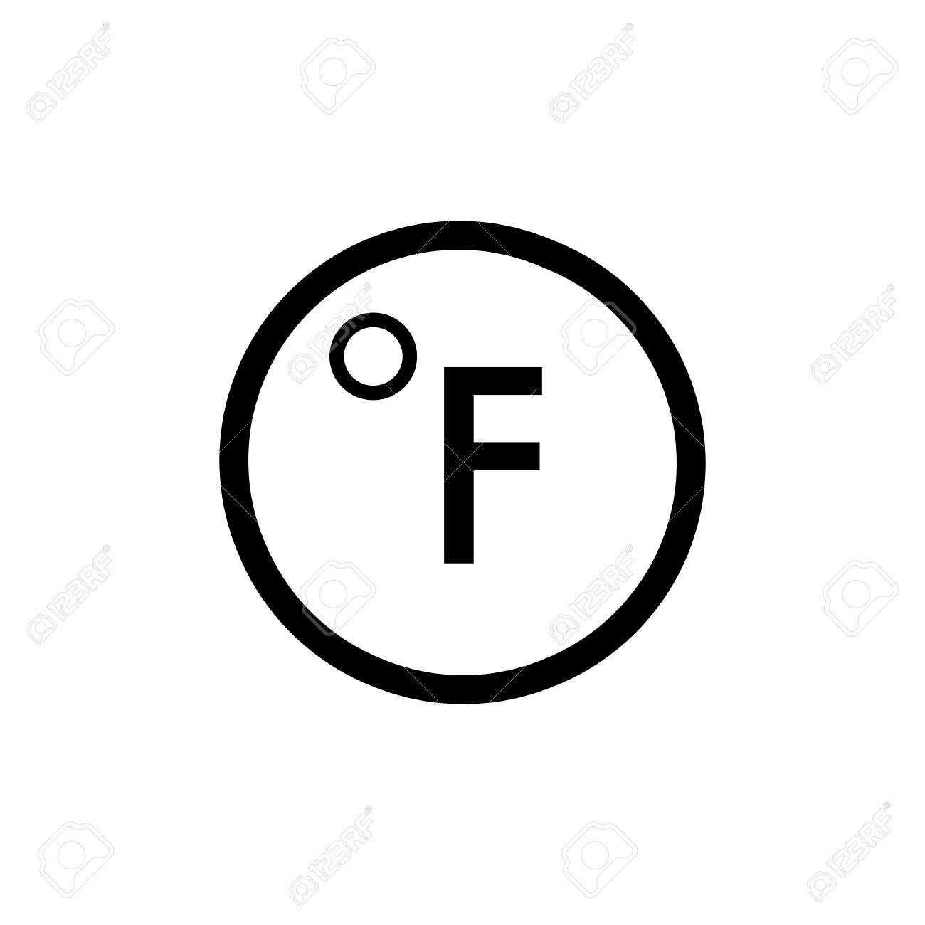 Degrees Fahrenheit Vector Icon Royalty Free Cliparts Vectors And