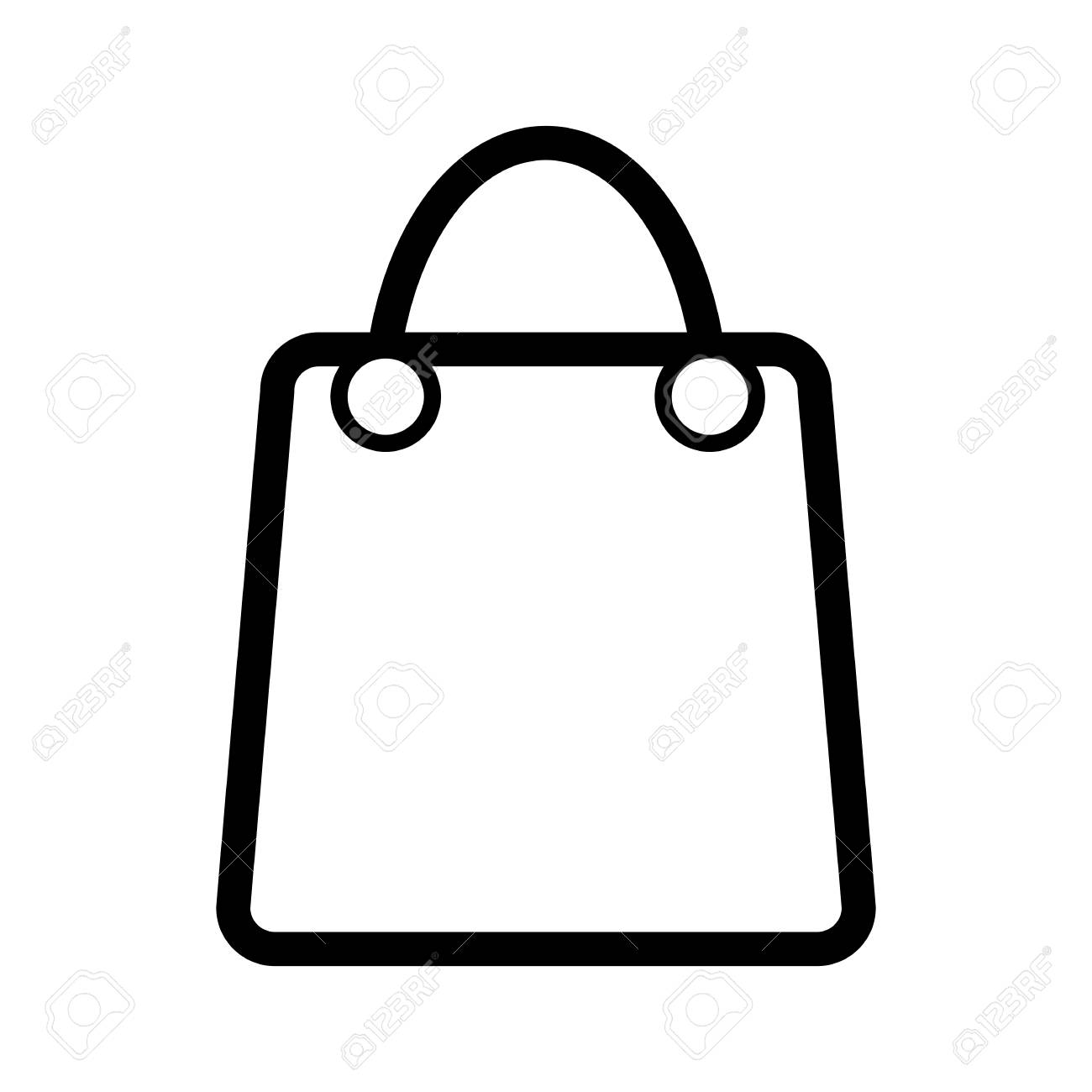 shopping bag vector icon black and white bag illustration with rh 123rf com bag vector icon bag vector free download