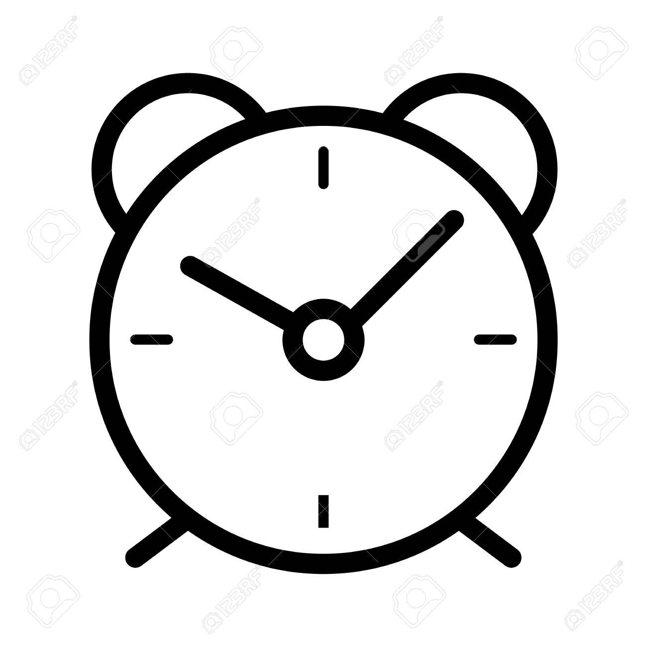 alarm clock simple vector icon black and white illustration rh 123rf com