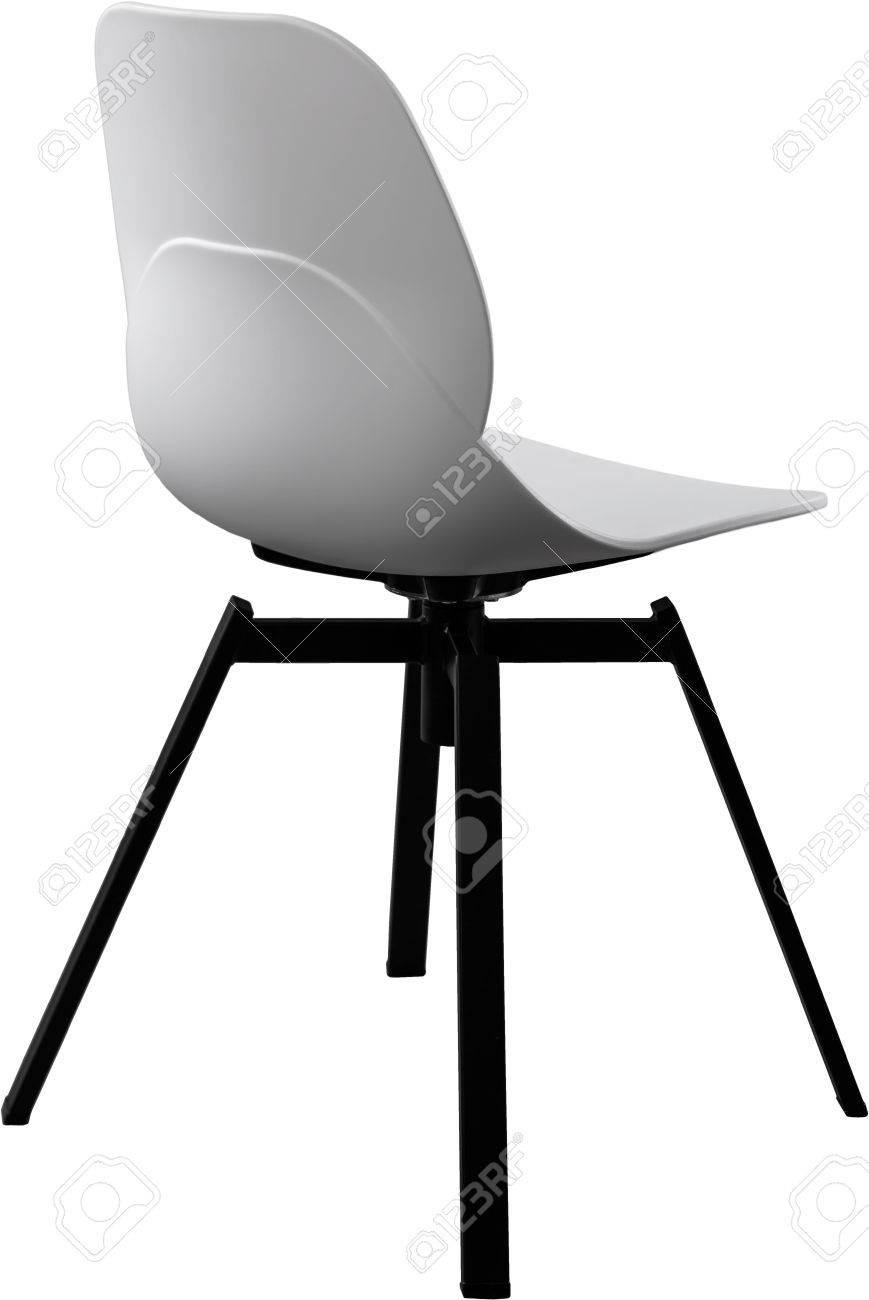 Chaise En Plastique Couleur Blanche Designer Moderne