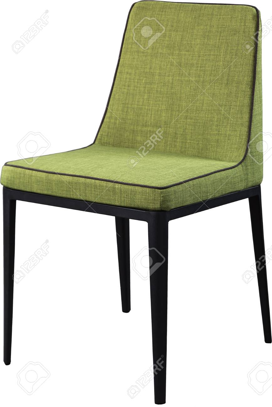 Designer green dining chair on black metal legs. Modern soft chair isolated on white background  sc 1 st  123RF.com & Designer Green Dining Chair On Black Metal Legs. Modern Soft.. Stock ...
