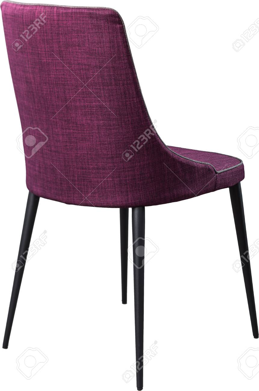 Silla De Comedor De Diseño Púrpura Sobre Patas De Metal Negro. Silla ...