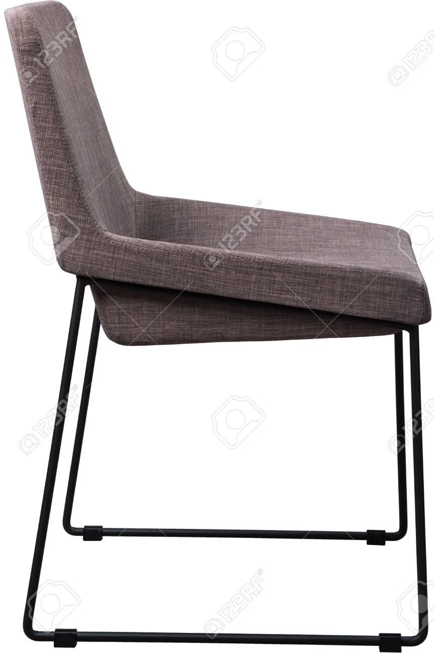 Chaise Design Gris Sur Des Jambes En Mtal Noir Moderne