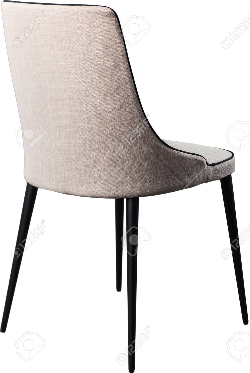 Designer Gray Dining Chair On Black Metal Legs Modern Soft Chair Stock Photo Picture And Royalty Free Image Image 80481305