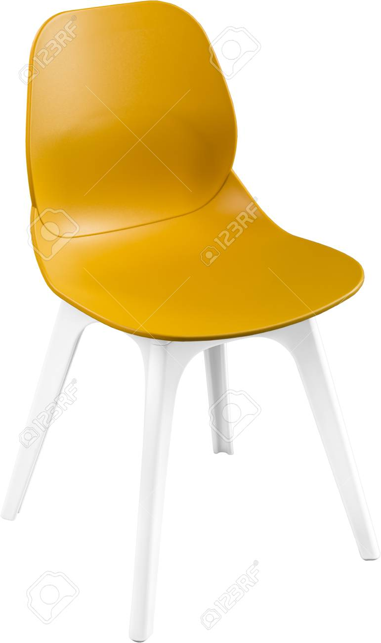 Chaise En Plastique Couleur Moutarde Designer Moderne