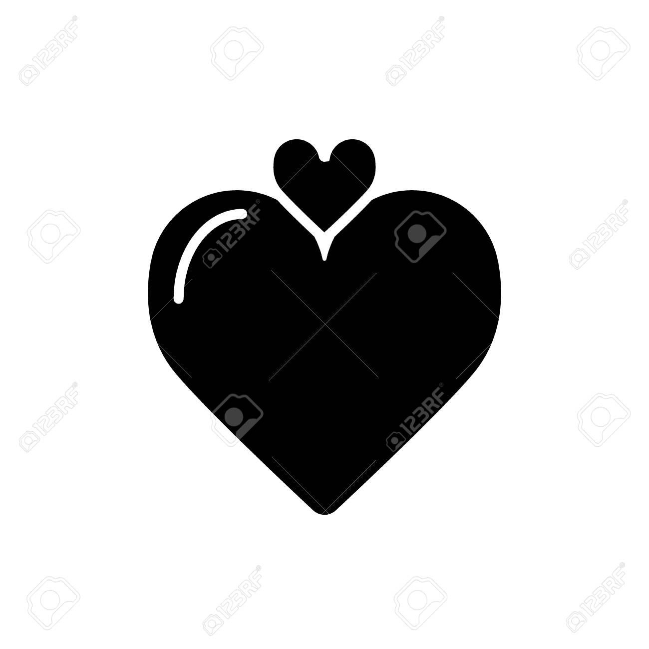 Solid Heart Symbol Best Clipart Gallery