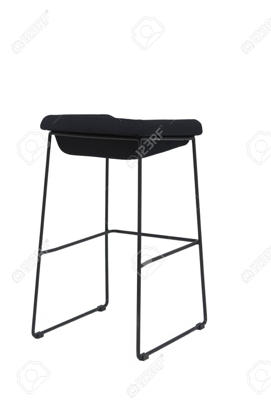 Fine Tall Black Bar Stool Isolated On White Modern Designer Bar Chair Inzonedesignstudio Interior Chair Design Inzonedesignstudiocom