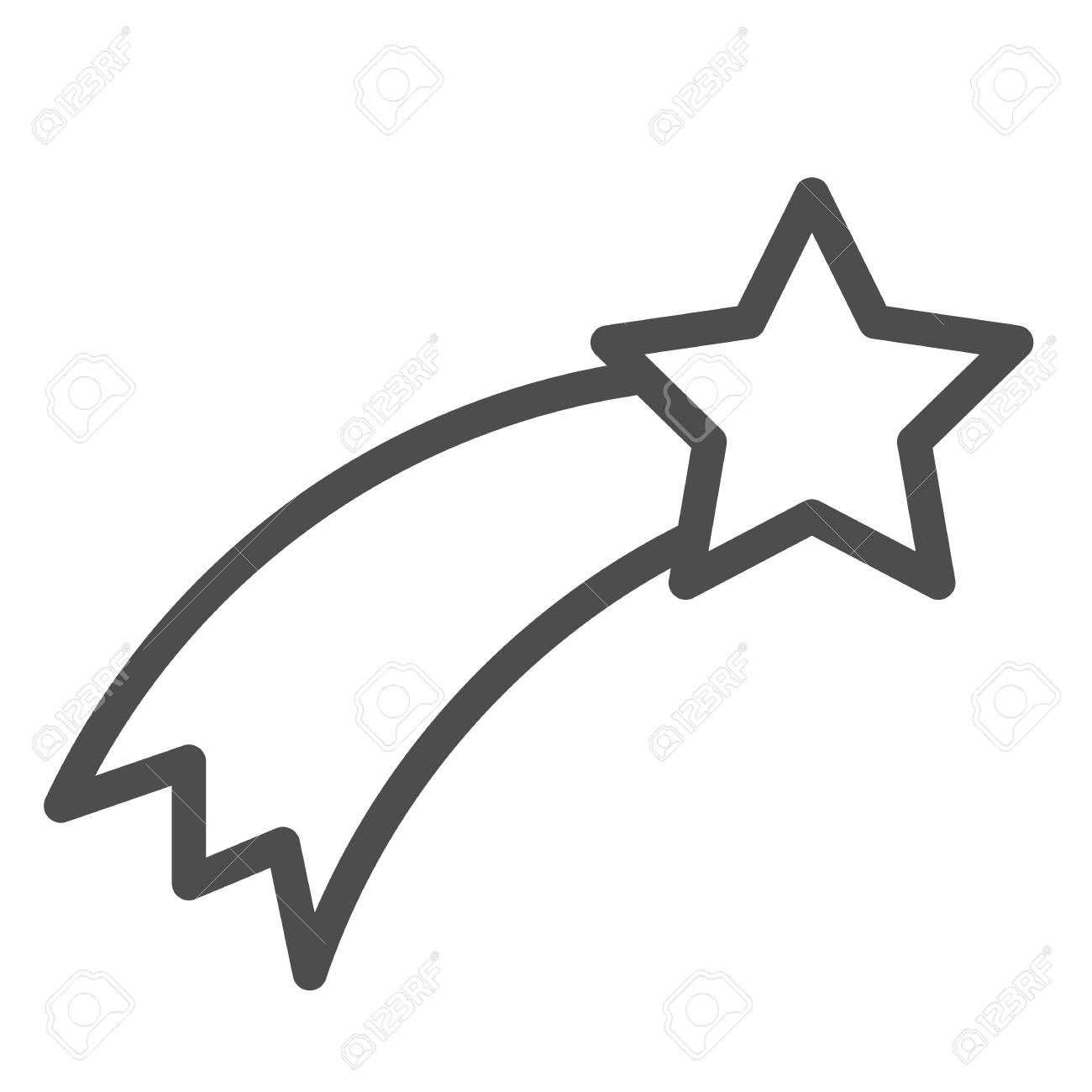 Shooting star line icon. Falling star vector illustration isolated on white. Astronomy outline style design, designed for web and app. - 112761566