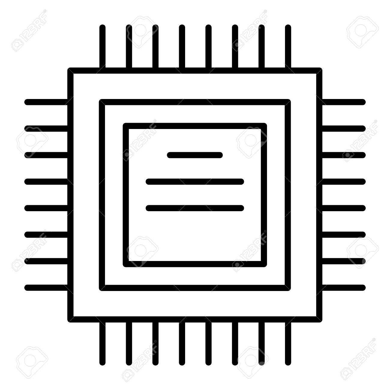 processor thin line icon cpu vector illustration isolated on royalty free cliparts vectors and stock illustration image 111823228 processor thin line icon cpu vector illustration isolated on