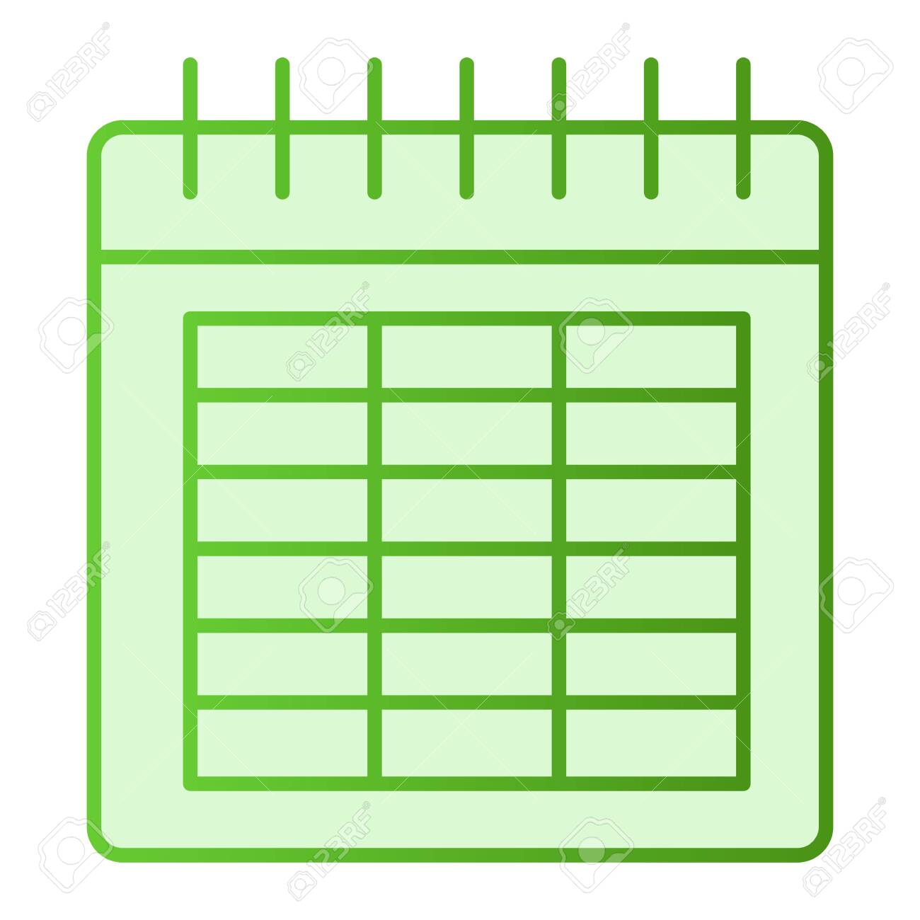Calendar Flat Icon Date Green Icons In Trendy Flat Style Month Royalty Free Cliparts Vectors And Stock Illustration Image 120811333