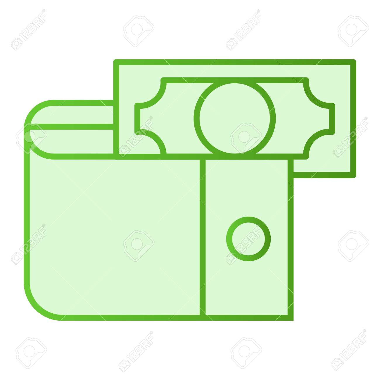 Wallet With Money Flat Icon Cash Green Icons In Trendy Flat Royalty Free Cliparts Vectors And Stock Illustration Image 120811335
