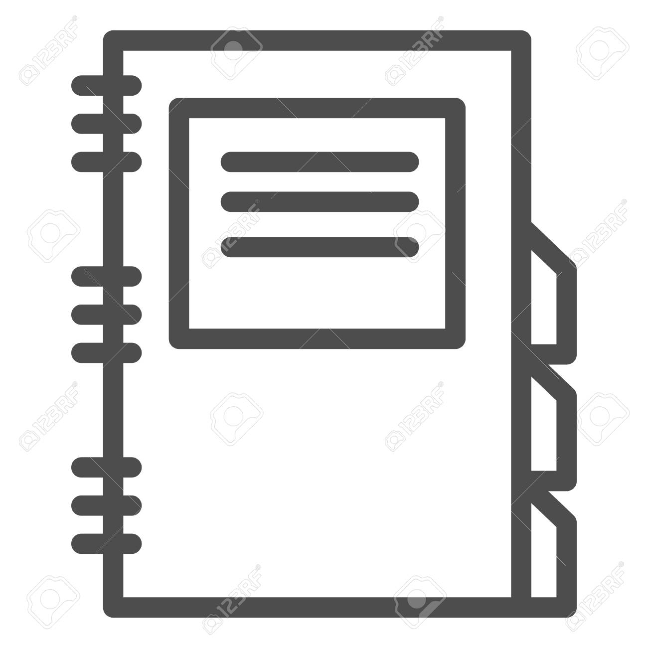 photograph relating to Dailyplanner referred to as Day by day planner line icon. Diary vector case in point isolated upon..
