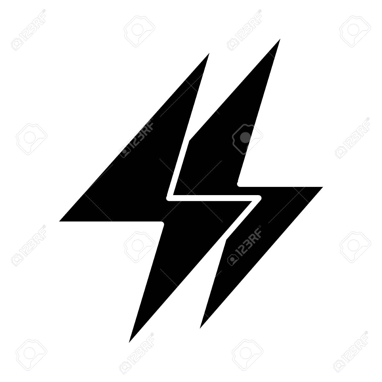 Energy Solid Icon Electricity Illustration Isolated On White Royalty Free Cliparts Vectors And Stock Illustration Image 122757314