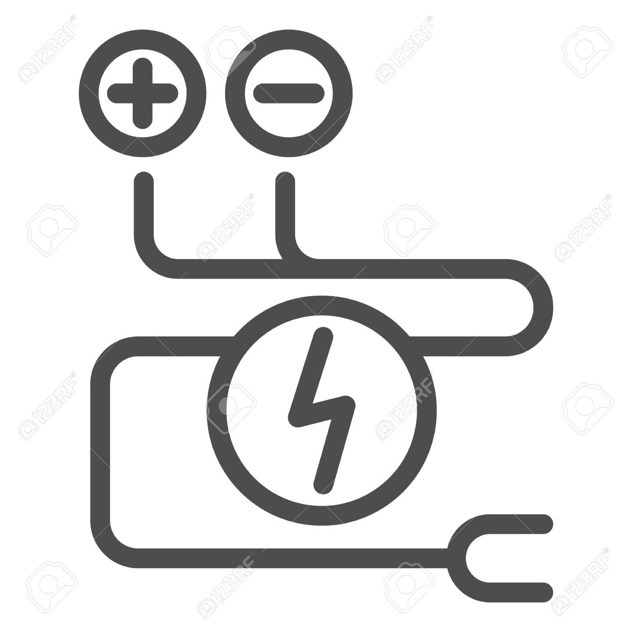 Electrical Wiring Line Icon Cable Vector Illustration Isolated Royalty Free Cliparts Vectors And Stock Illustration Image 123903705