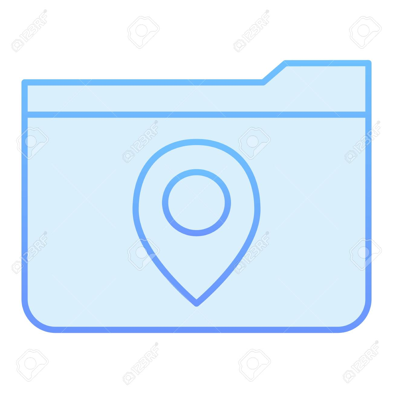 Folder with map pin flat icon. Folder location blue icons in.. on map template, map clock, map files, map layout, map brochure, map frame, map bag, map pen, map worksheet, map button, map component, map data, map graph,
