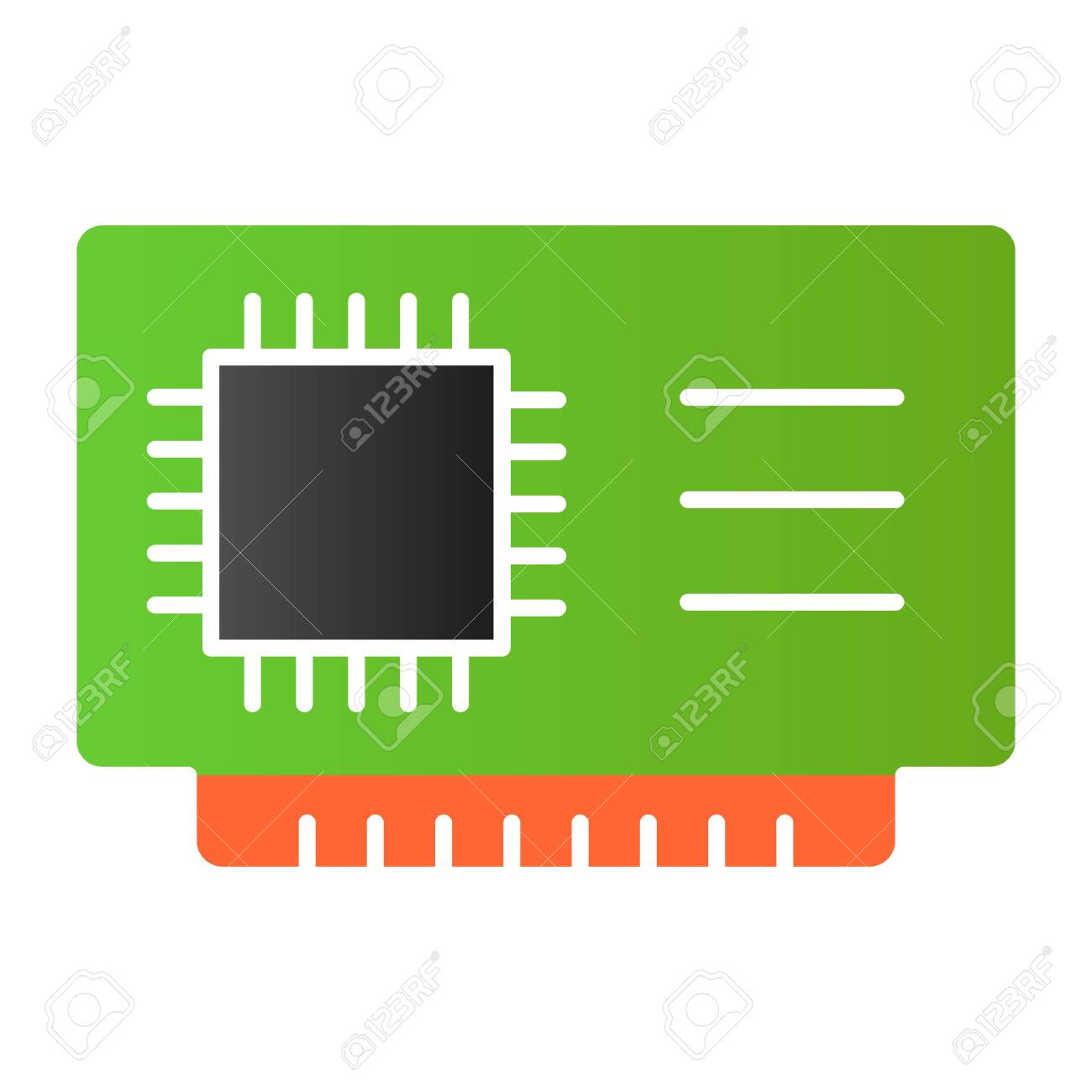 microchip flat icon cpu vector illustration isolated on white royalty free cliparts vectors and stock illustration image 141294017 123rf com