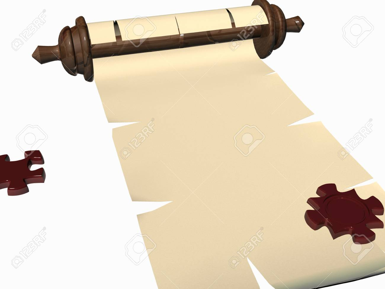 puzzle scroll. 3D Stock Photo - 3612435