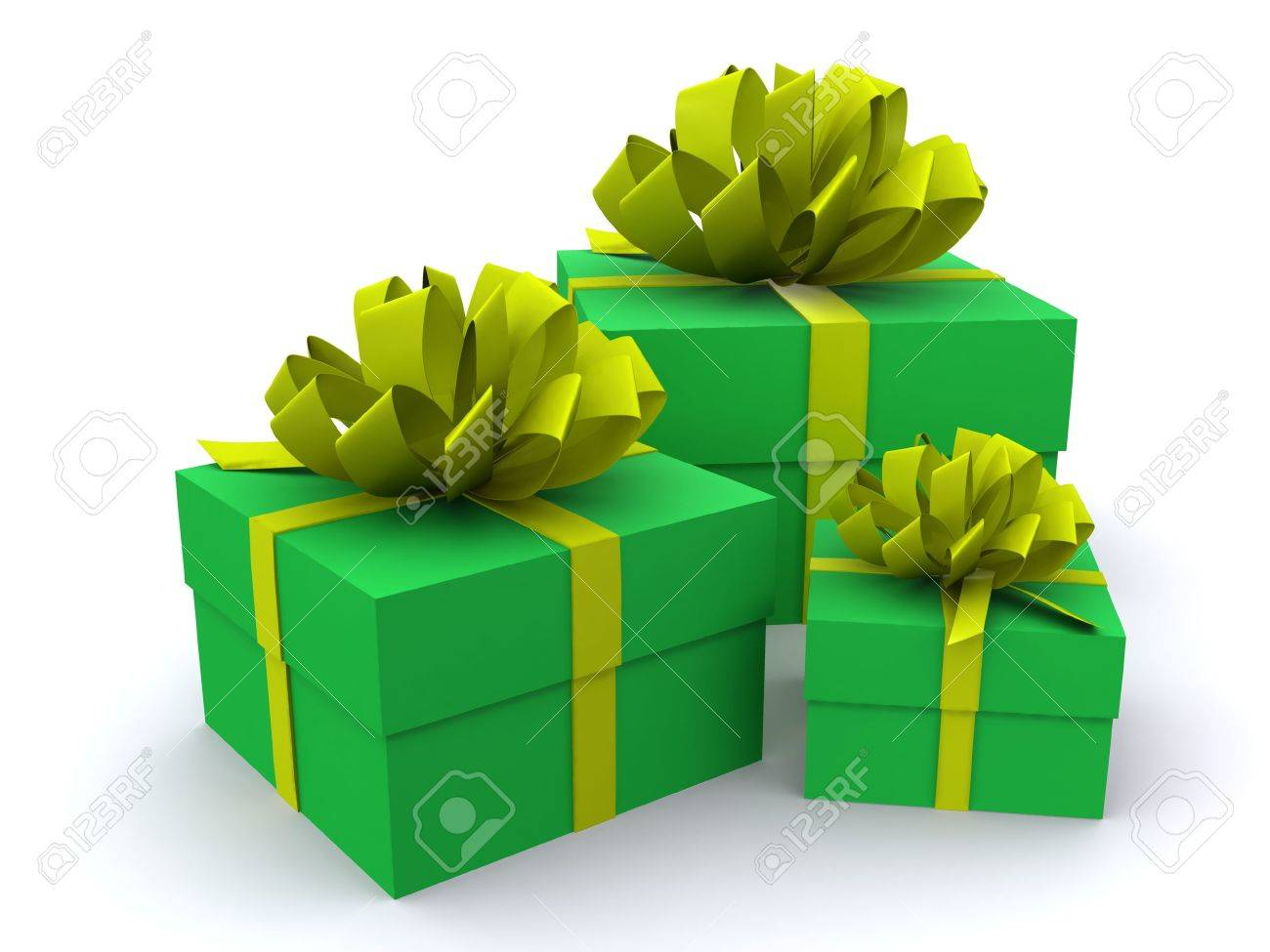 present boxes. 3D Stock Photo - 3896198