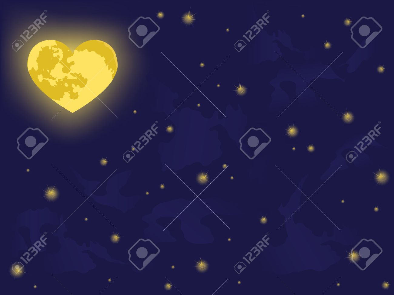 moon on night sky. vector backgrounds Stock Vector - 4260347