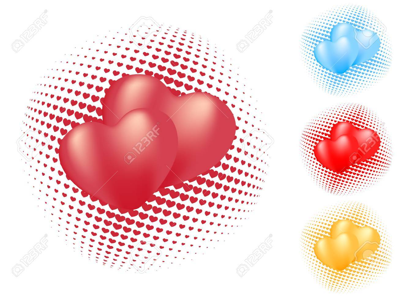 isolated heart pattern. vector valentine Stock Vector - 4260356