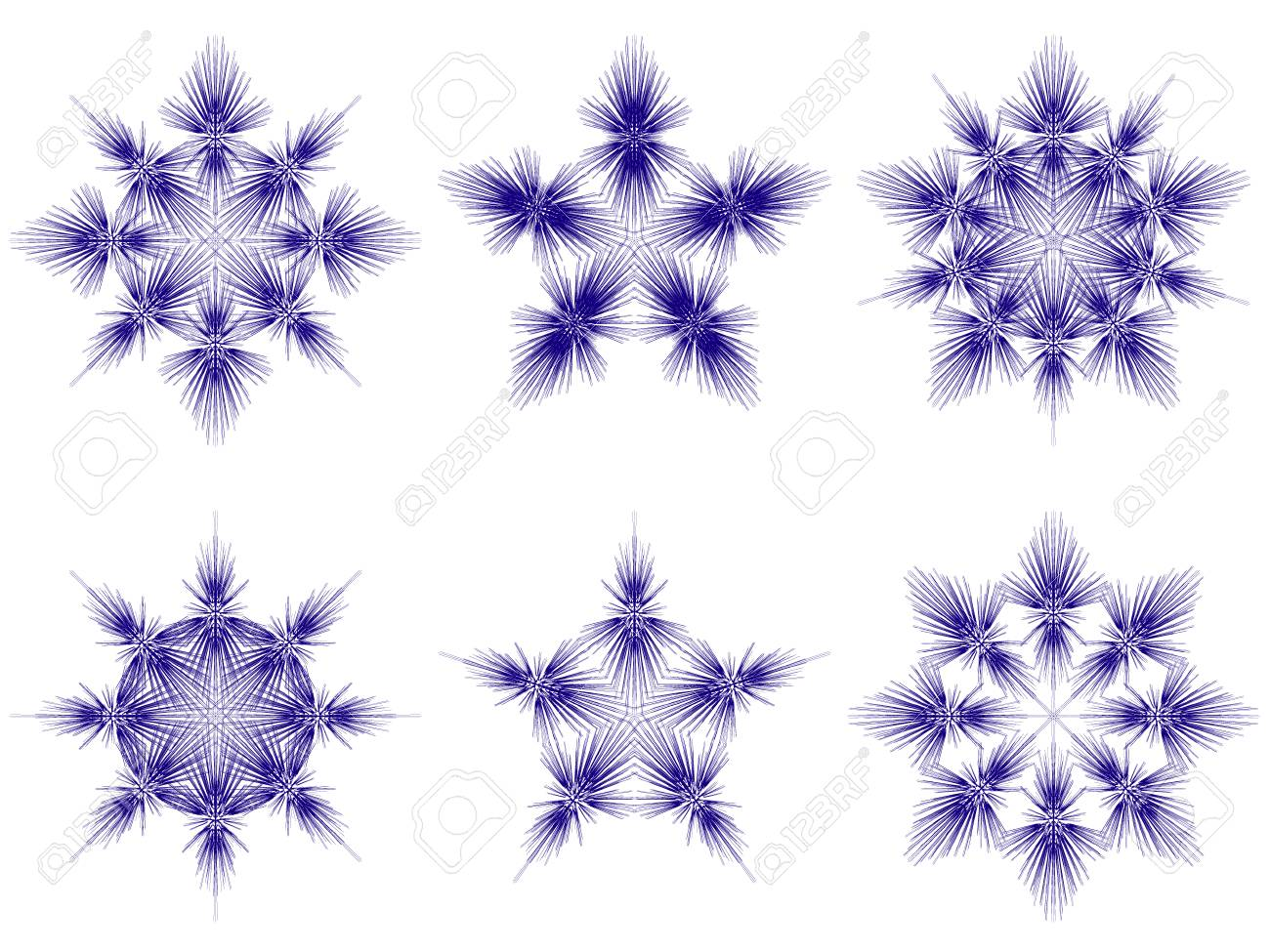 isolated christmas snowflakes. vector Stock Vector - 5535703