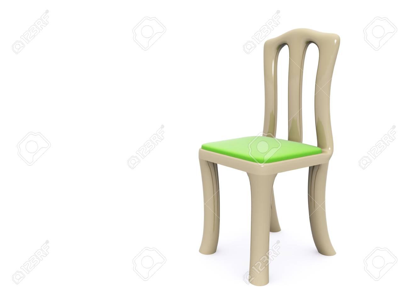 single chair. 3d Stock Photo - 6469979