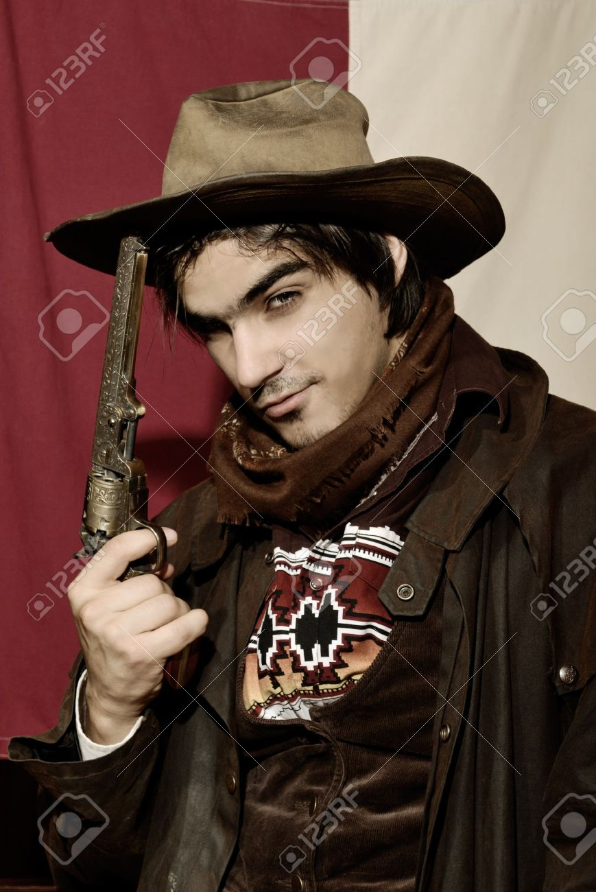 handsome boy in cowboy clothes Stock Photo - 7935357