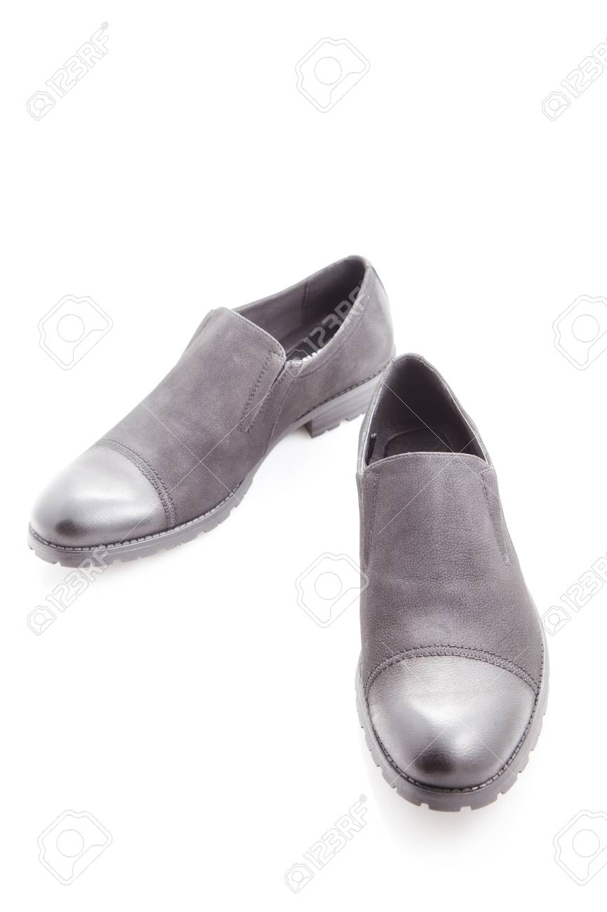 Men S Dress Shoes On A White Background Close Up Stock Photo