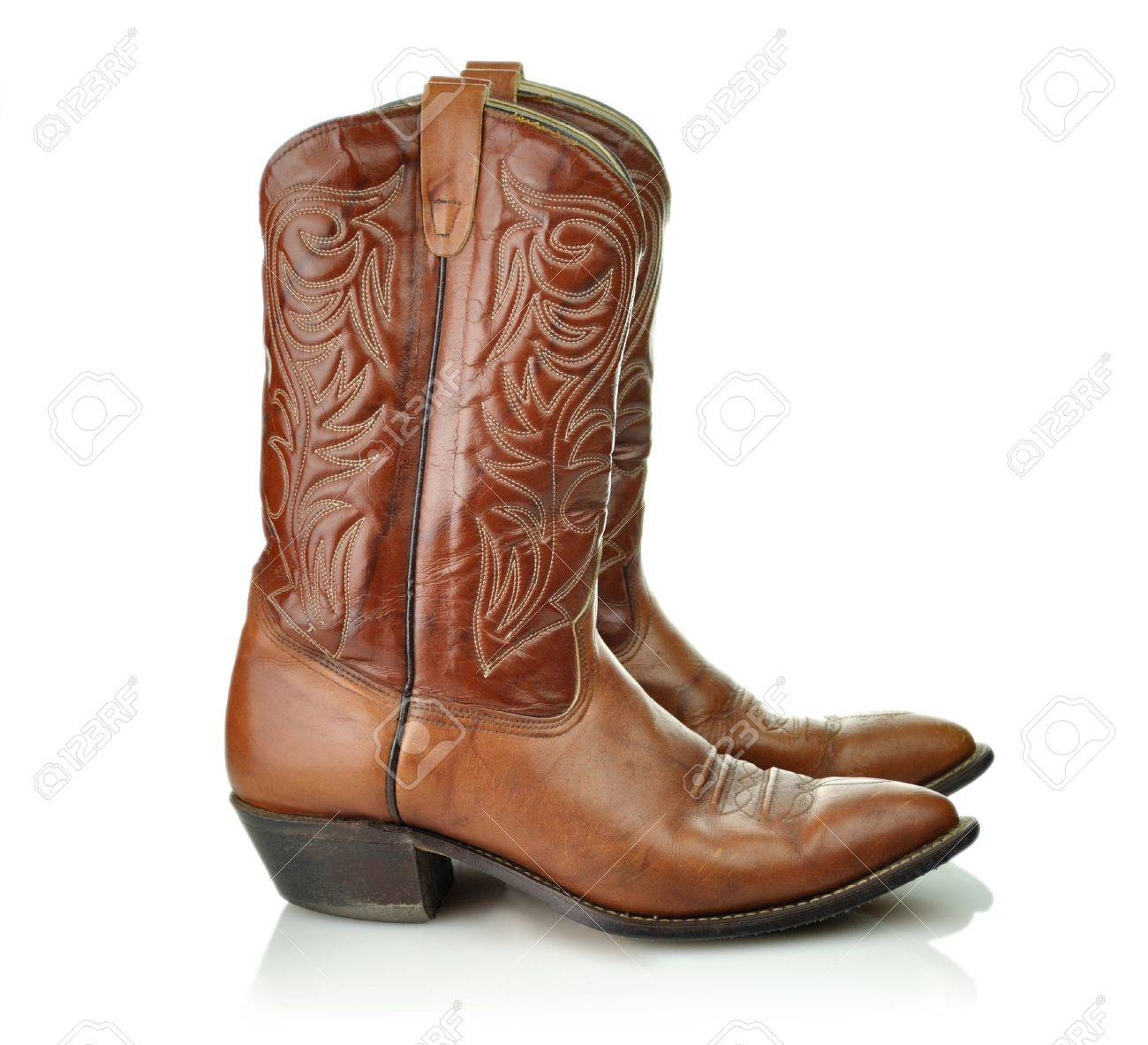 Brown Cowboy Boots Stock Photo, Picture And Royalty Free Image ...