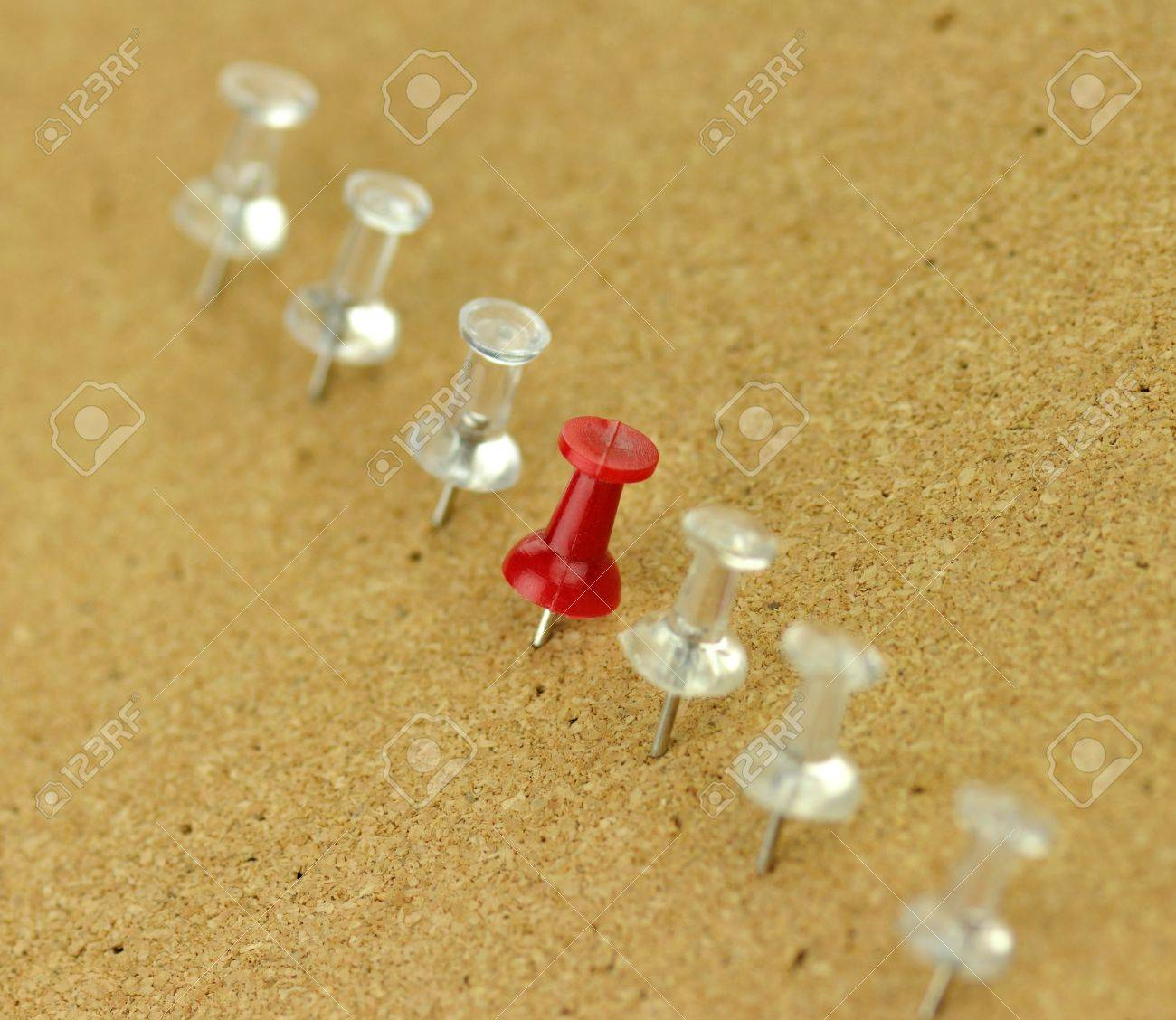 plastic thumbtack on cork board Stock Photo - 8896429