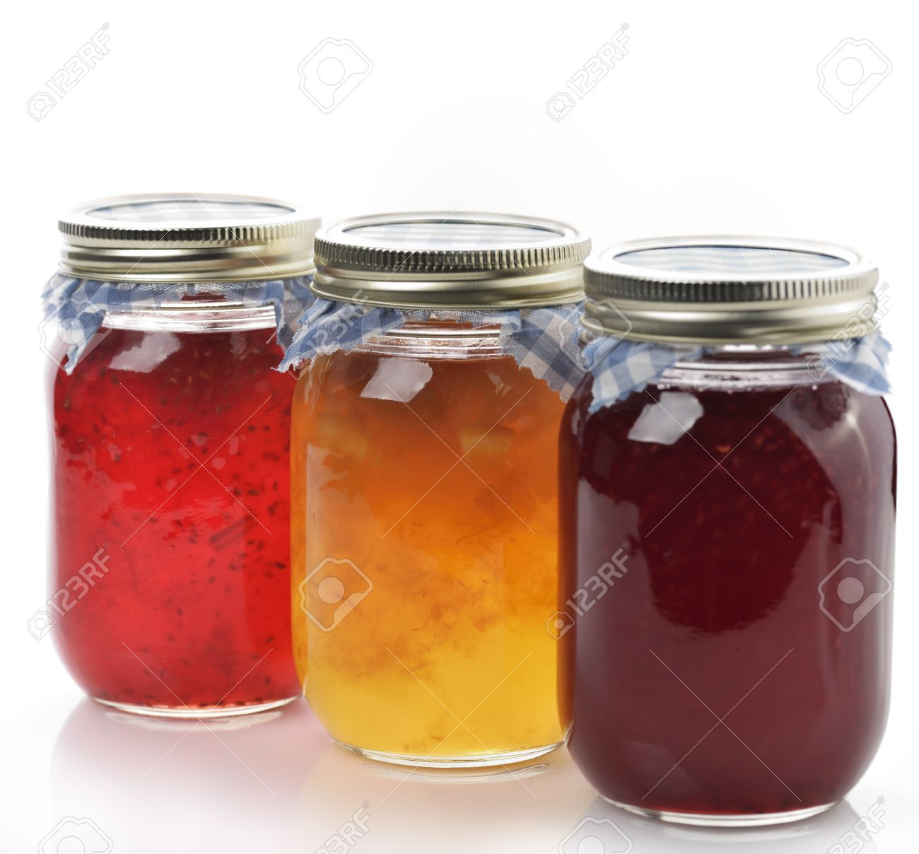 Homemade Marmalade And Jam In The Glass Jars Stock Photo - 20332369