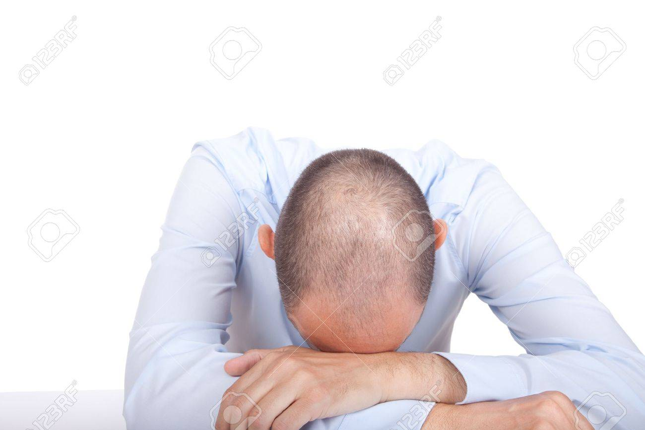 A collapsed business man Stock Photo - 13382422