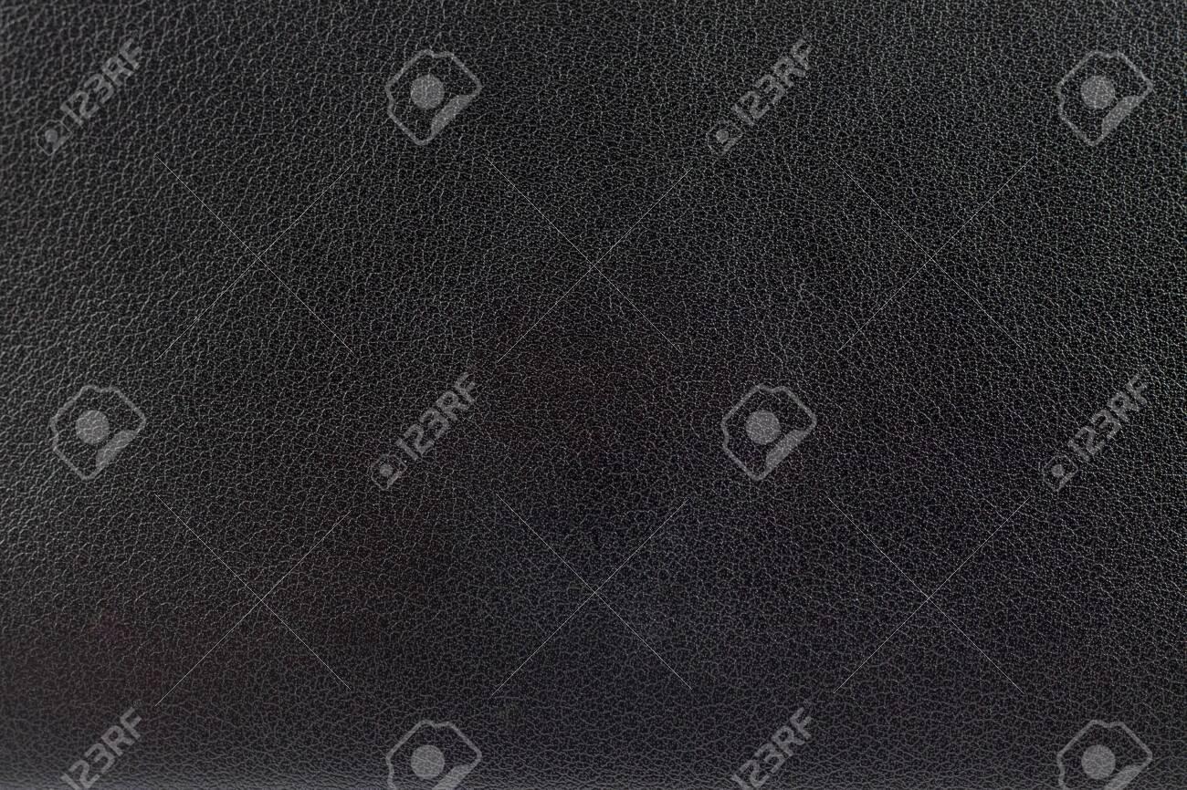 Closeup surface black leather texture background - 131408918